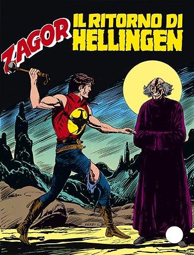 La copertina de Il ritorno di Hellingen, una delle più belle storie sceneggiate da Tiziano Sclavi