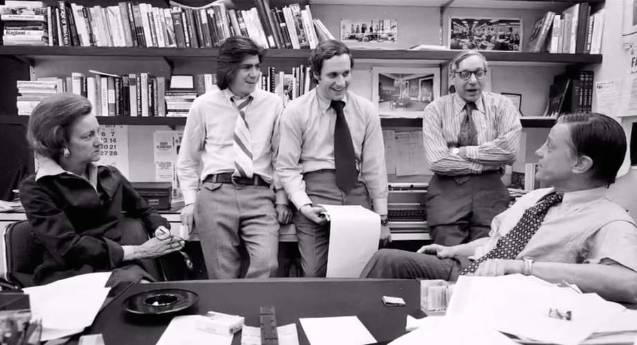 Lo staff del Washington Post che seguì l'inchiesta sul caso Watergate