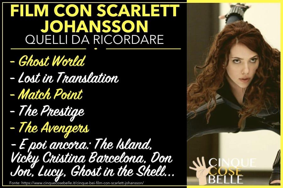 I migliori film con Scarlett Johansson