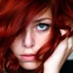 Capelli rosso brillante