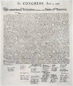 La Dichiarazione di Indipendenza degli Stati Uniti