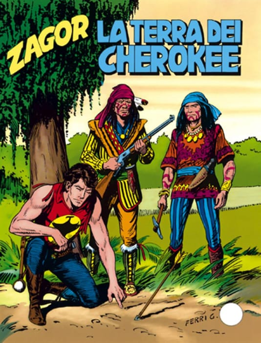 La terra dei Cherokee, avventura di Zagor