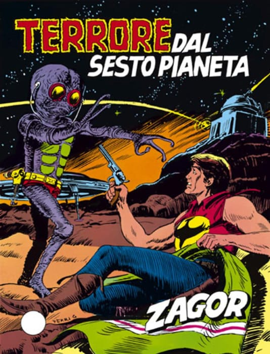 Terrore dal sesto pianeta, avventura di Zagor