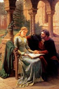 Abelardo e la sua allieva Eloisa, quadro di Edmund Blair Leighton