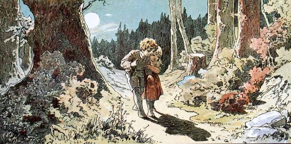 Hansel e Gretel si avventurano nel bosco