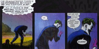 Il Joker di Alan Moore pronuncia la sua celebre frase all'interno di The Killing Joke