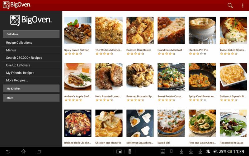 Il catalogo delle ricette di BigOven