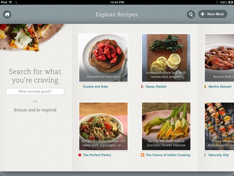 Evernote Food su iPad