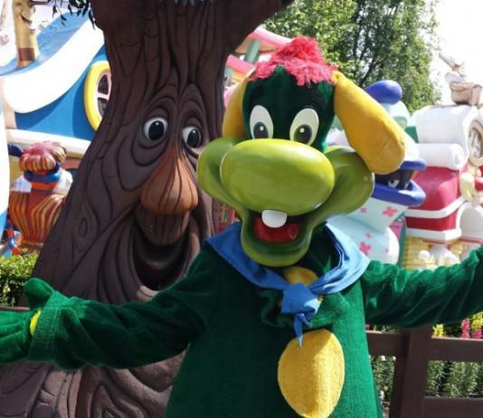 Prezzemolo, la mascotte di Gardaland, il parco divertimenti più grande d'Italia