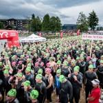 L'inizio della manifestazione di Triathlon