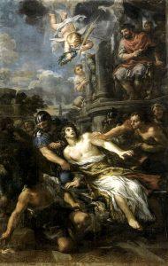 Il martirio di San Lorenzo in un affresco di Pietro da Cortona