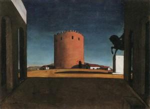 La torre rossa di Giorgio De Chirico