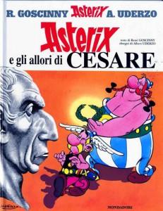 La copertina di Asterix e gli allori di Cesare