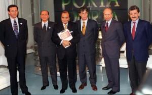 Fini, Berlusconi, Bossi, Dini e D'Alema ospiti da Bruno Vespa