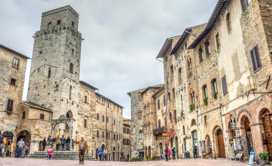 Un bello scorcio di San Gimignano