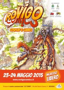 La locandina di Rovigo Comics 2015 realizzata da Claudio Casini, meglio noto come Cloud