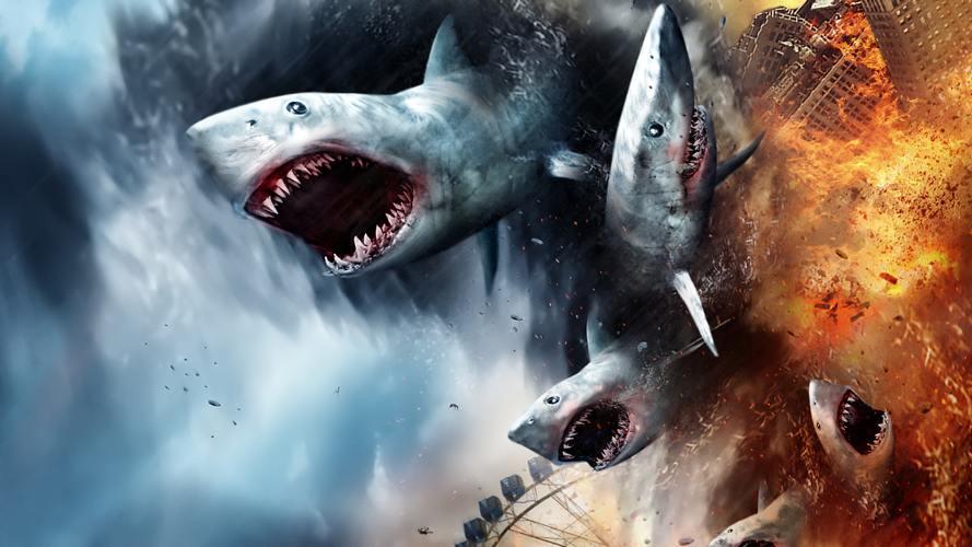 Gli squali di Sharknado, forse il più noto dei film della Asylum