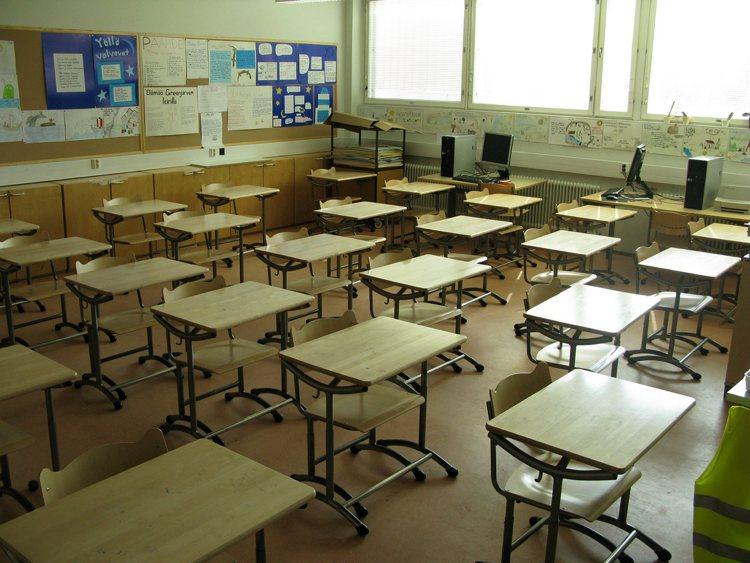 Un'aula scolastica in Finlandia (foto di Leo-setä via Flickr)