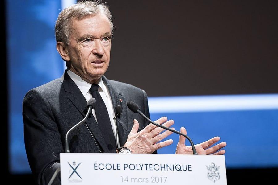 Bernard Arnault (foto di Jérémy Barande / Ecole polytechnique Université Paris-Saclay)