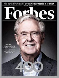 Charles Koch sulla copertina di Forbes