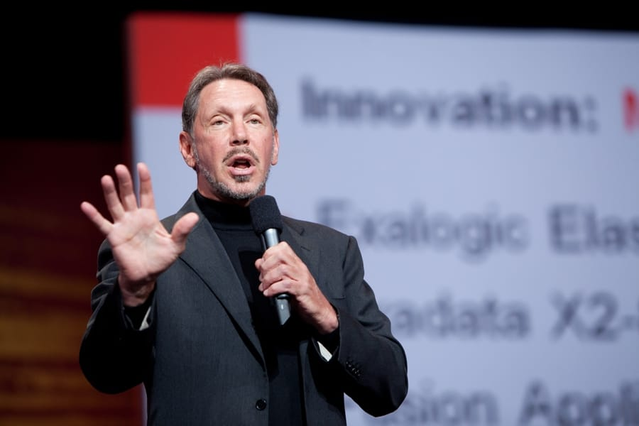 Larry Ellison, fondatore e amministratore delegato di Oracle (foto di Hartmann Studios via Flickr)