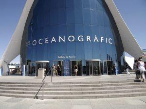 L'ingresso dell'Oceanogràfic a Valencia