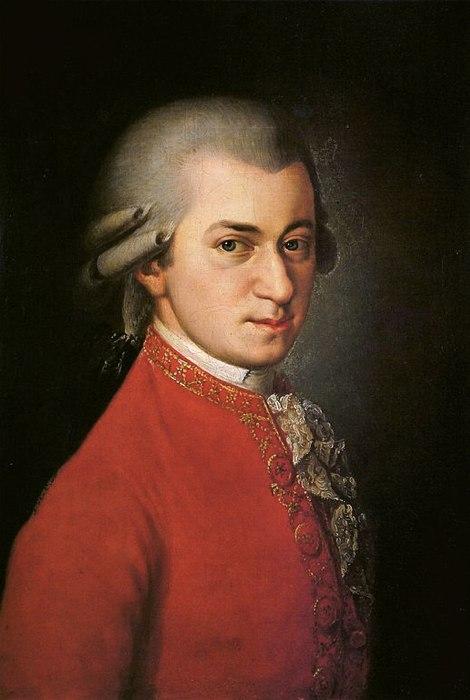 Wolfgang Amadeus Mozart nel celebre ritratto di Barbara Kraft