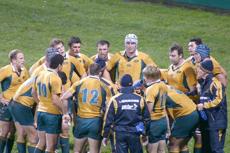 La nazionale di rugby dell'Australia (foto di BobTheCorkDwarf via Flickr)