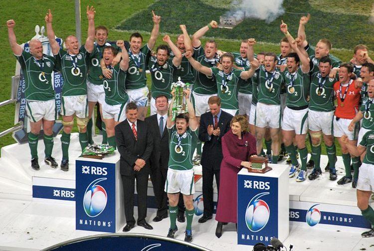 La Nazionale irlandese festeggia la vittoria del Sei Nazioni nel 2009 (foto di Arun Marsh via Flickr)