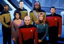 I protagonisti di Star Trek: the Next Generation, una delle più interessanti serie TV di fantascienza degli anni '80