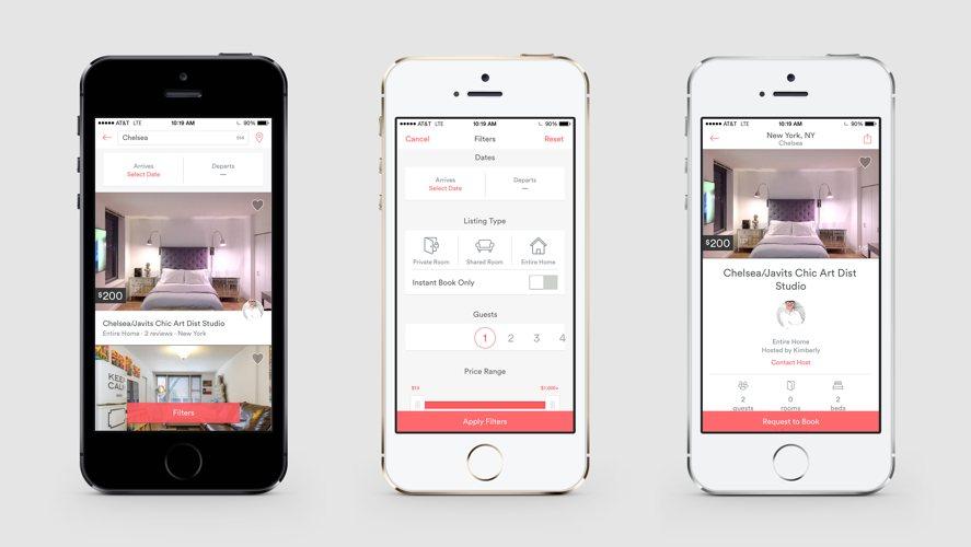 Tre videate di Airbnb