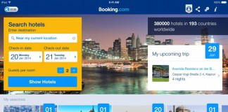 La pagina d'ingresso di Booking.com