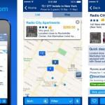 Alcune videate dell'app di Booking.com