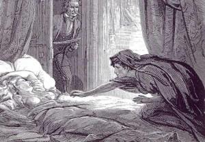 Carmilla in un'illustrazione ottocentesca