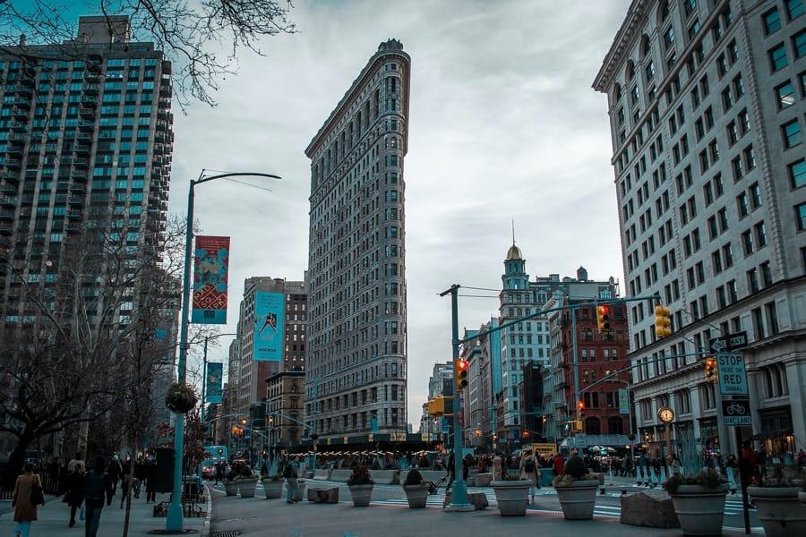 Il Flatiron Building a New York