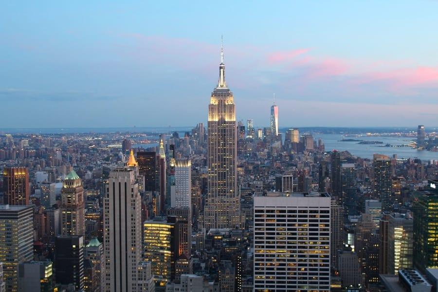 L'Empire State Building, uno dei più famosi edifici di Manhattan a New York