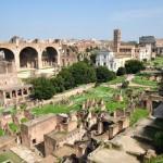 Il Foro romano visto dall'alto