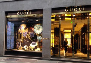 Gucci in via Montanapoleone
