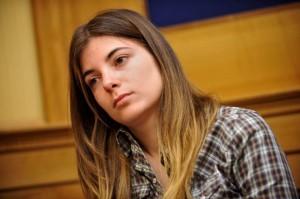 La giovane giornalista Giulia Innocenzi