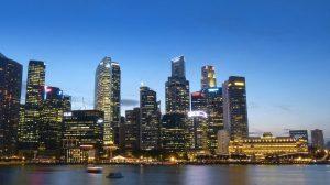 Lo skyline di Singapore