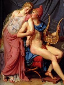Jacques-Louis David - L'amore di Elena e Paride