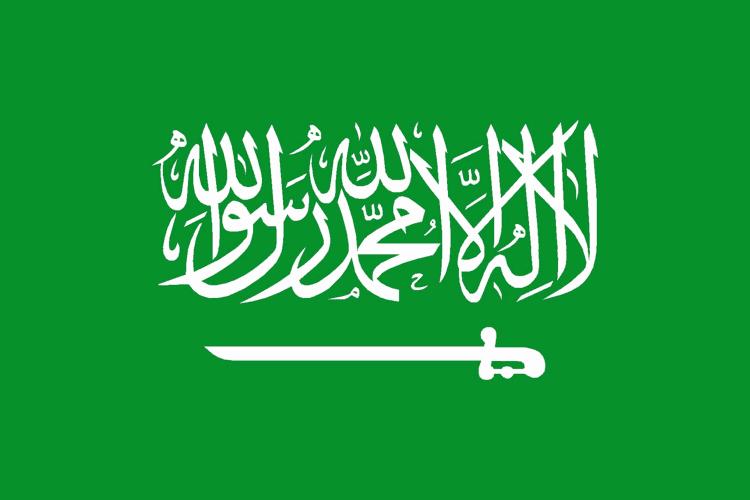 La bandiera dell'Arabia Saudita