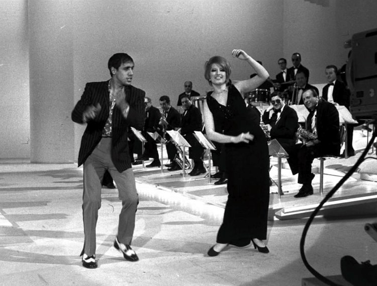 Mina e Adriano Celentano, interpreti di alcune delle più belle canzoni italiane degli anni '60