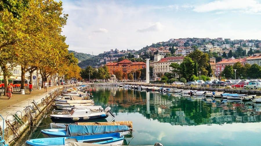 Un bello scorcio di Rijeka, ovvero Fiume