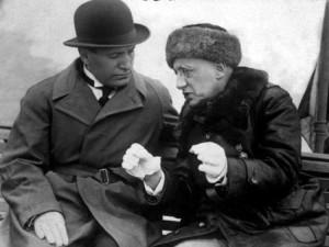 Mussolini e D'Annunzio a colloquio