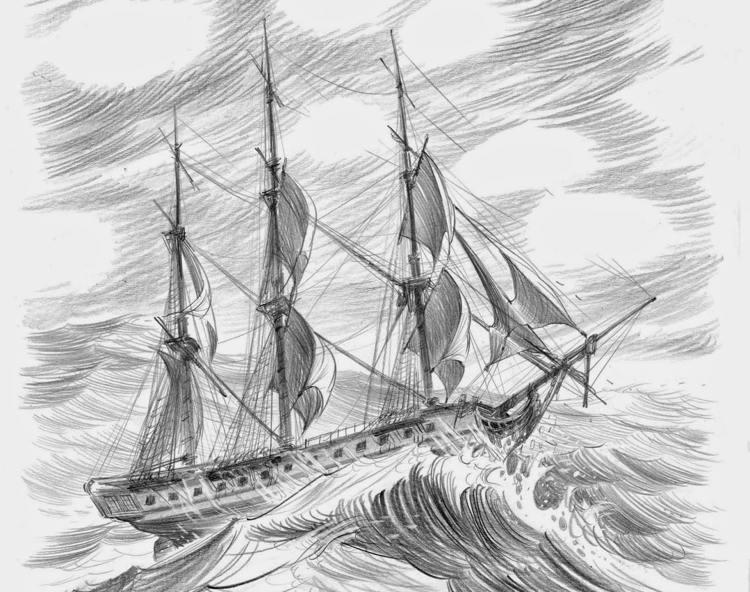 Una nave disegnata da Stefano Turconi