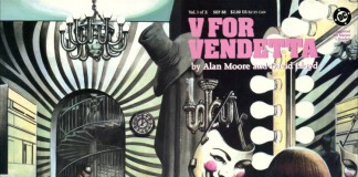 Il primo numero dell'edizione americana di V for Vendetta, fumetto di Alan Moore e David Lloyd da cui abbiamo tratto le frasi