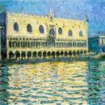 Il Palazzo Ducale a Venezia visto da Claude Monet