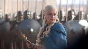 Daenerys Targaryen alla guida dell'esercito