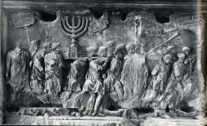Rilievi dell'arco di Tito che raccontano la presa di Gerusalemme